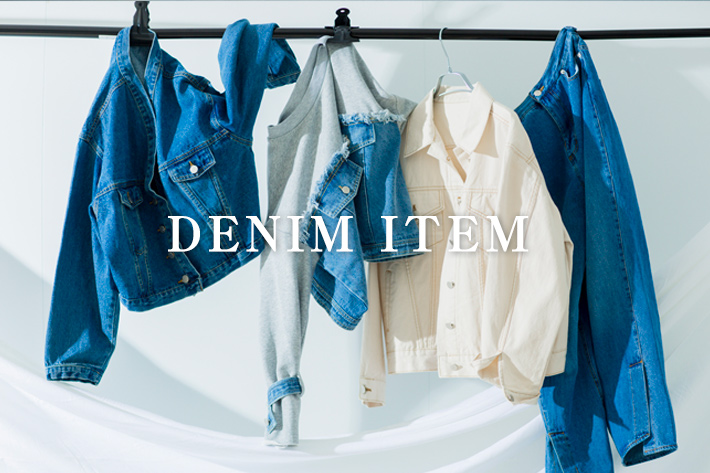 "mona Belinda この春のキーワード""DENIM""をピックアップ。"
