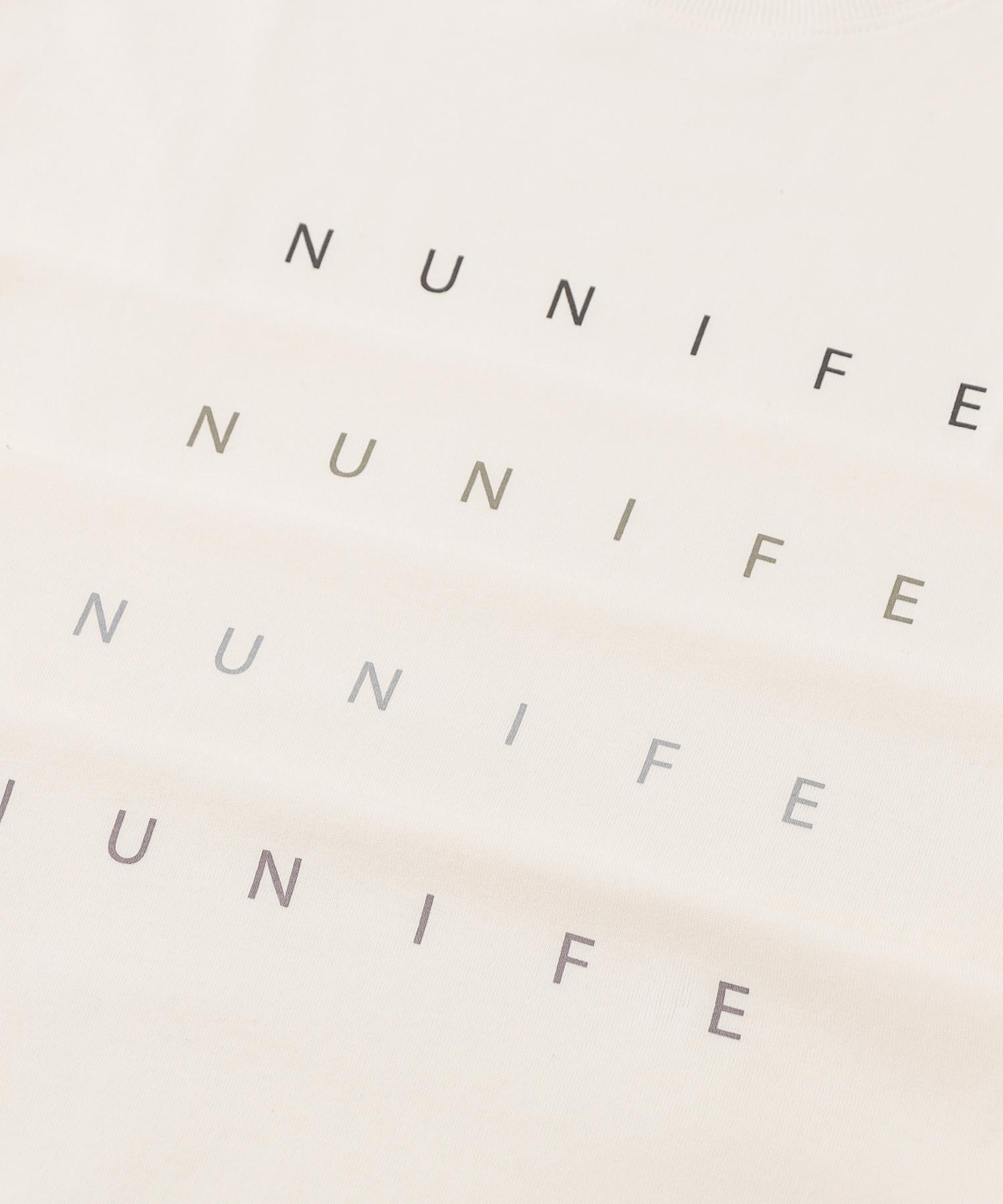【NUNIFE】NUNIFE ロゴロンT