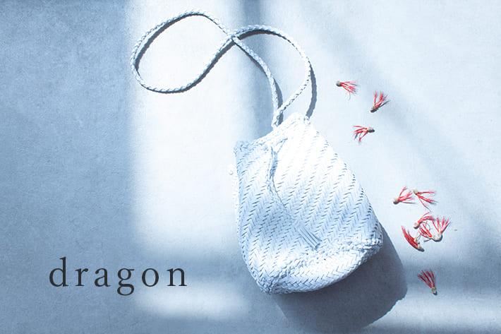 LIVETART 【dragon】コーディネートの幅が広がる大人のレザーメッシュバッグ