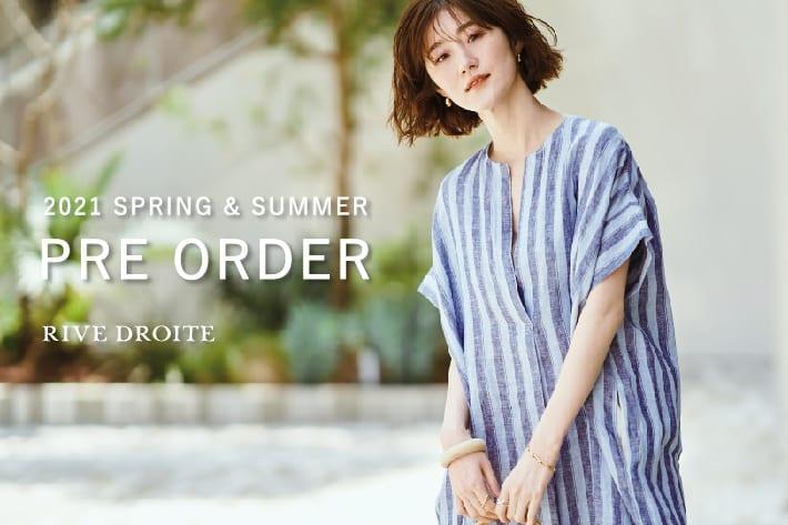 RIVE DROITE 【PRE ORDER】初夏の気分に向けて カラーワンピースやロゴTシャツが登場