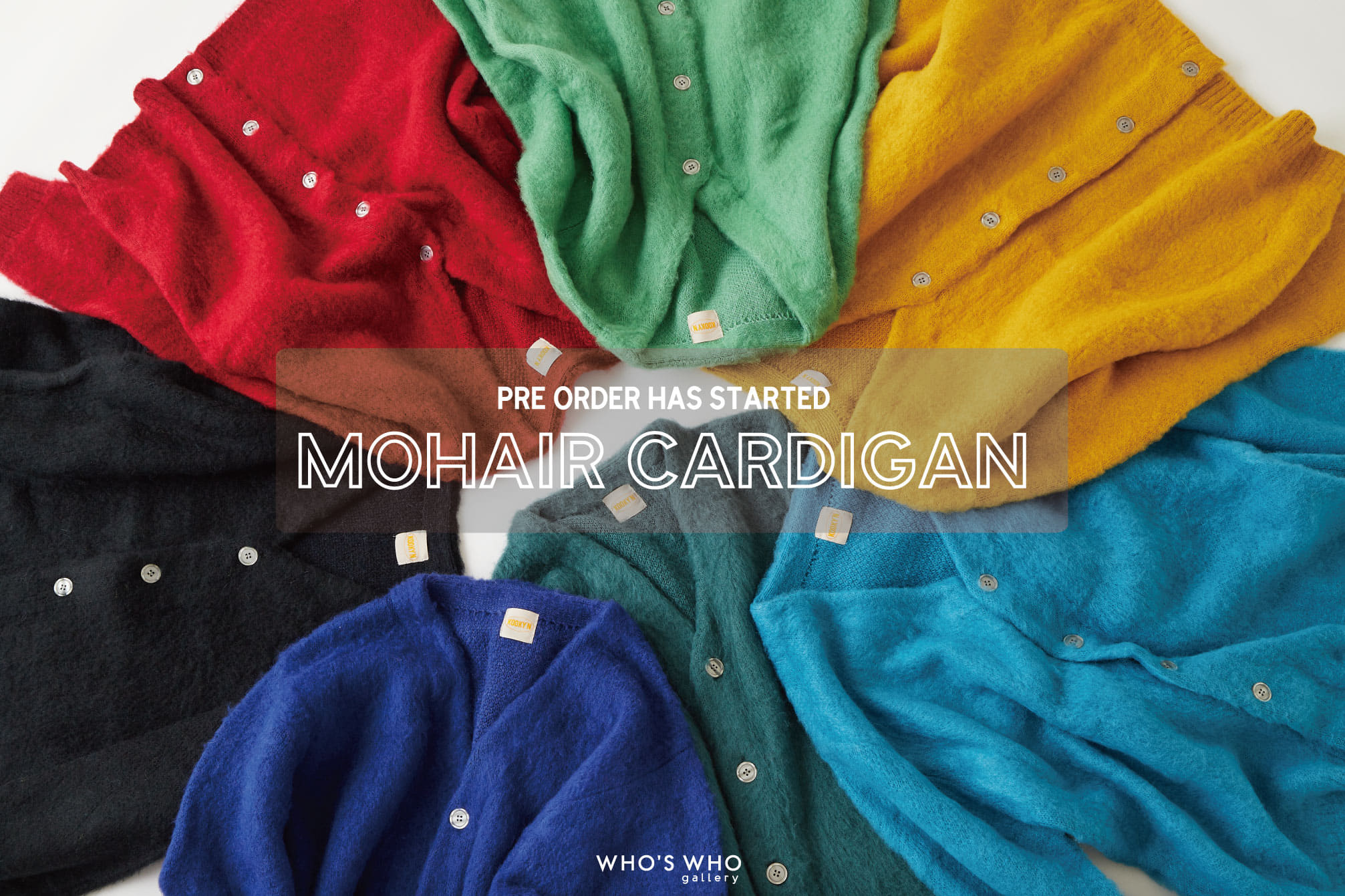 WHO'S WHO gallery 【帰ってきた!MOHAIR CARDIGAN】