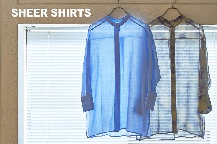 CIAOPANIC SHEER SHIRTS|今年も気になるシアーシャツは爽やかなカラーをチョイス!