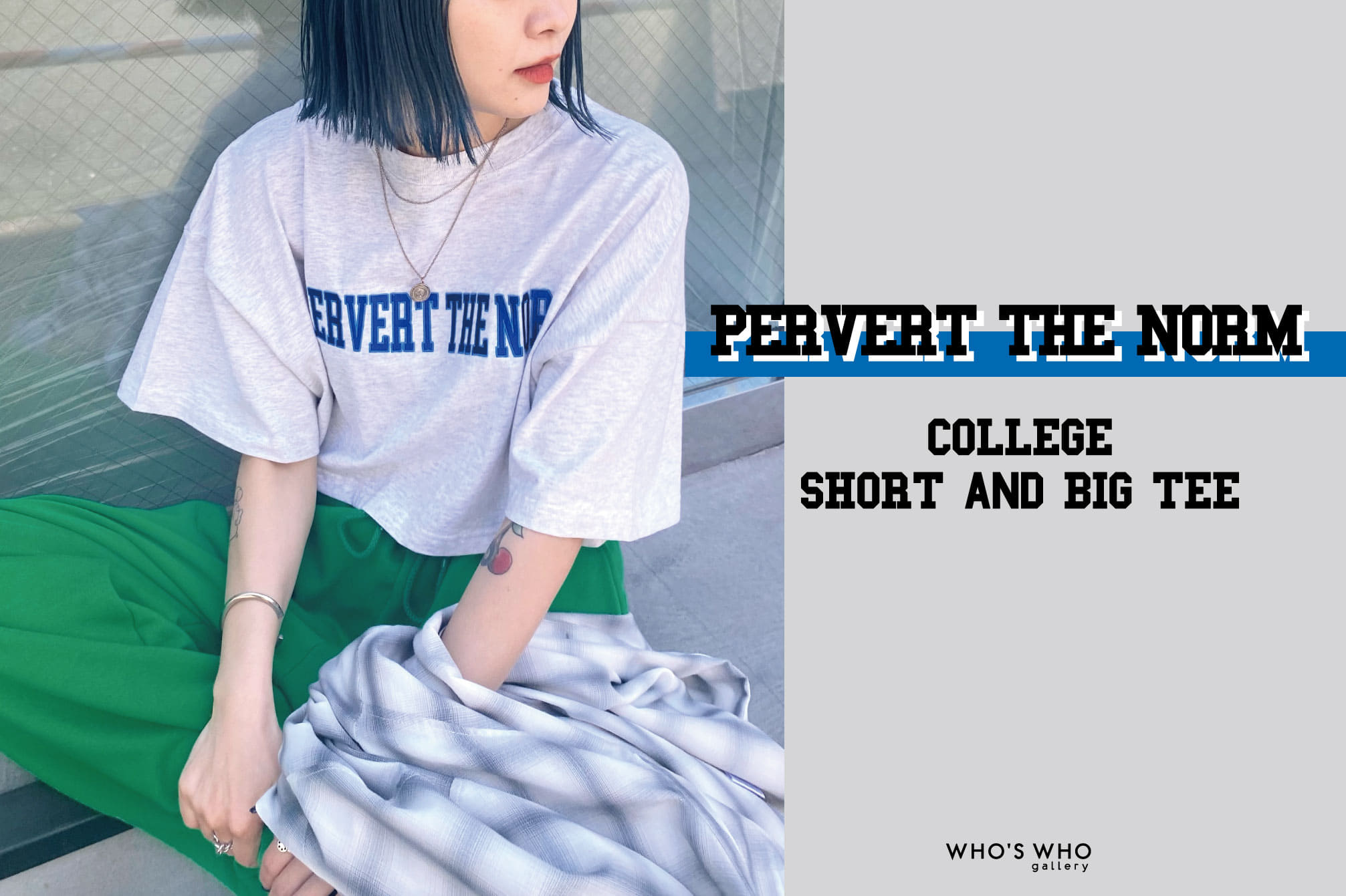 WHO'S WHO gallery 【PERVERT THE NORM】COLLEGE TEE
