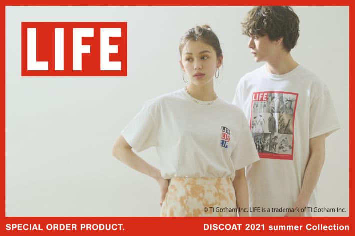 Discoat 【LIFE/ライフ】ユニセックスで楽しめるフォトプリントTシャツ