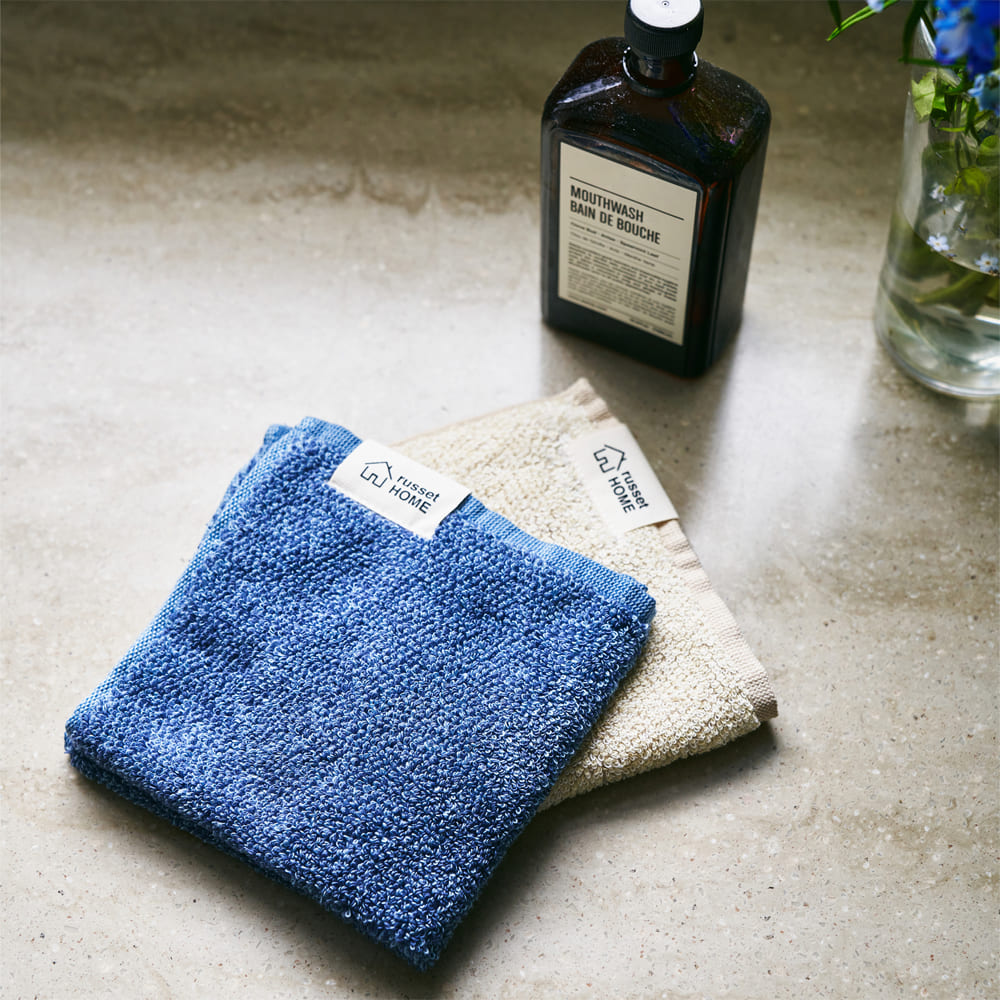 【cocochiena】巾着付きハンドタオル