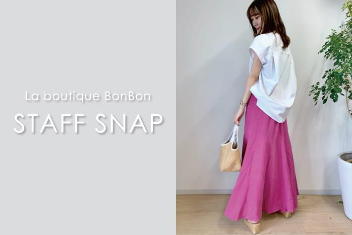 """La boutique BonBon STAFFSNAP#7 こなれスタイルに欠かせない""""ゆるトップス"""""""