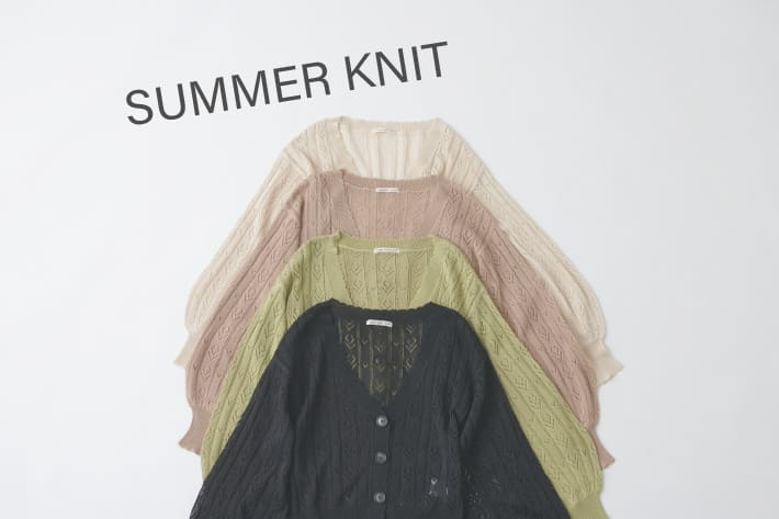 NICE CLAUP OUTLET 【SUMMER KNIT】