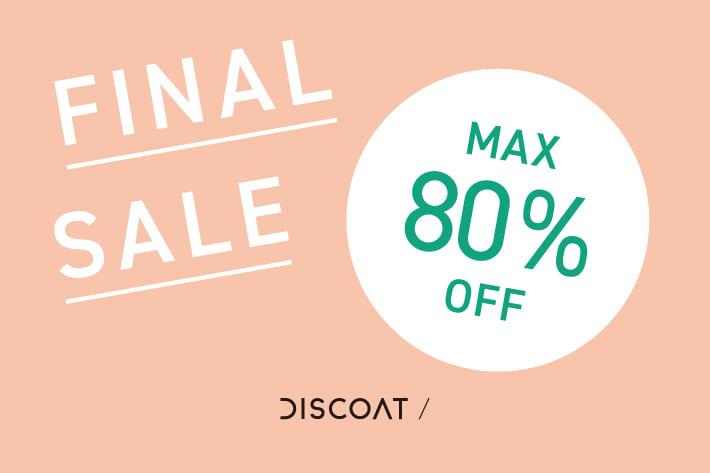 Discoat 【MAX80%OFF】FINAL SALE!!!