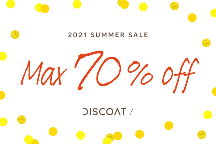 Discoat 【MAX70%OFF】SUMMER SALE開催中!