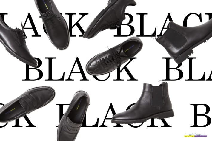 CIAOPANIC MENS | Leather Shoes Collection -BLACK ONE-