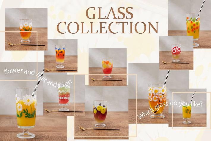 OLIVE des OLIVE OUTLET Flower Glass Collection