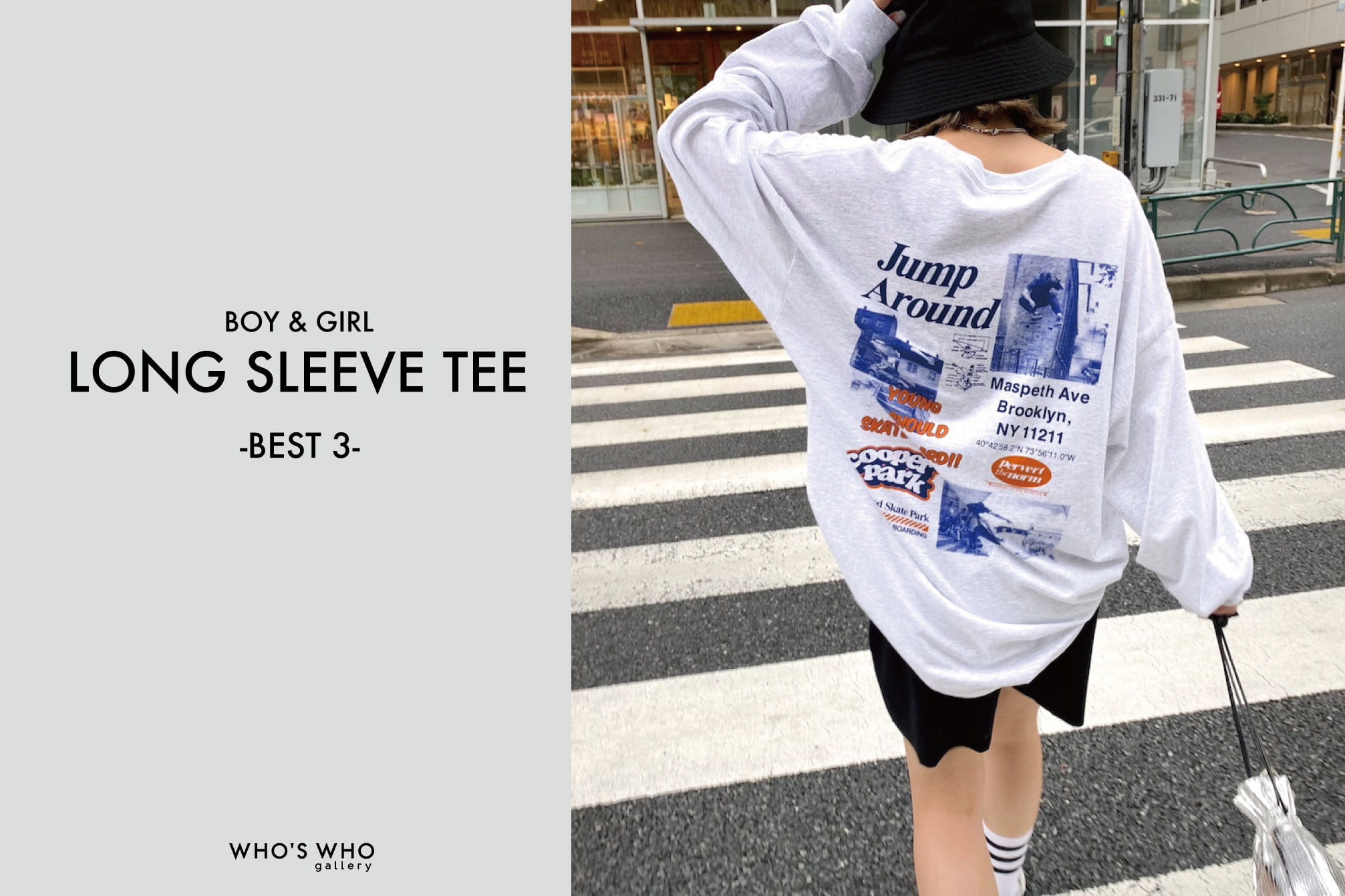 WHO'S WHO gallery 【LONG SLEEVE TEE -BEST3-】