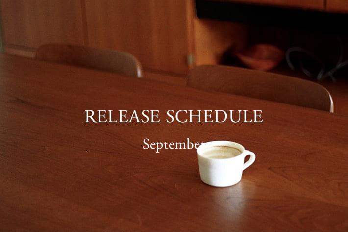 BLOOM&BRANCH RELEASE SCHEDULE    September