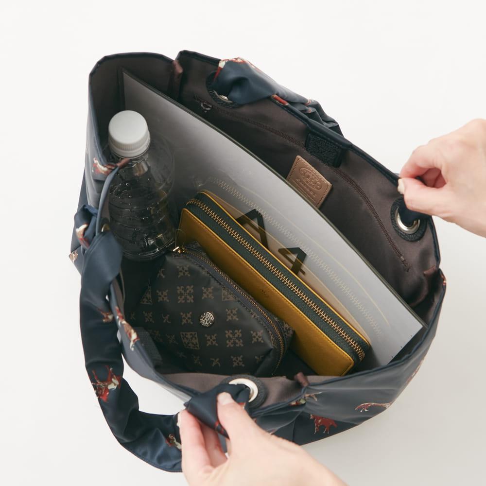 ノットハンドルトートバッグ