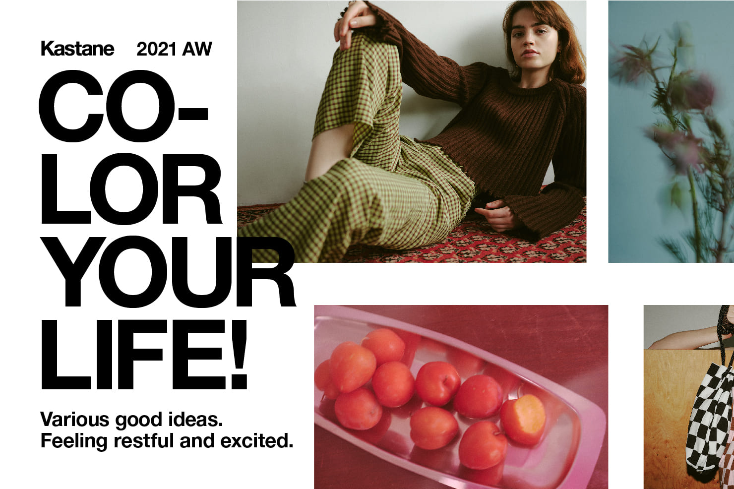 Kastane 2021A/W 「Various good ideas. Feeling restful and excited.」