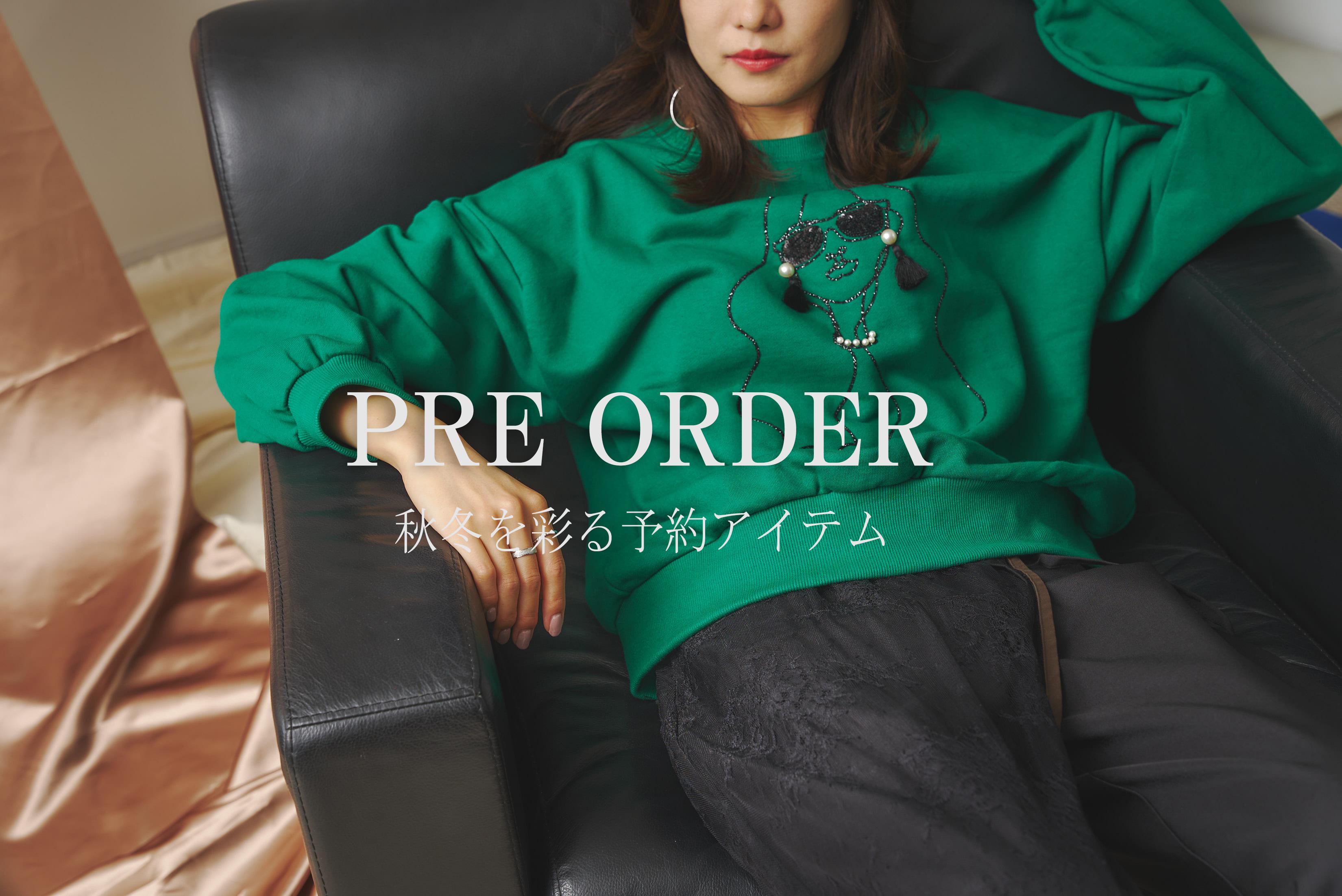 """mona Belinda """"Pre Order""""秋冬を彩る予約アイテム"""