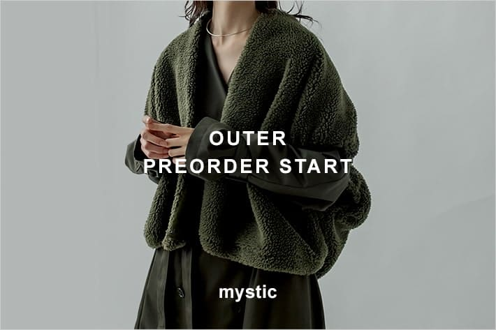 mystic 2021AW outer preorder start