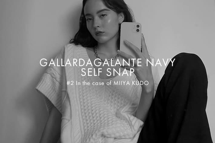 GALLARDAGALANTE 「GALLARDAGALANTE NAVY」SELF SNAP #2 in the case of MIIYA KUDO