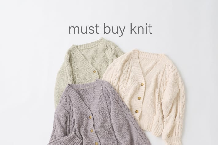 NICE CLAUP OUTLET 【must buy knit】