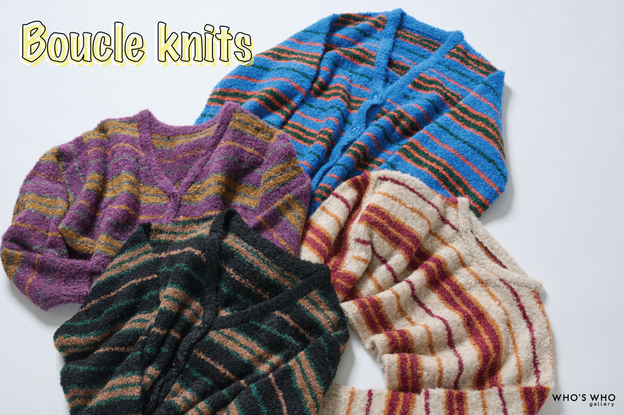 WHO'S WHO gallery 【Boucle knits】