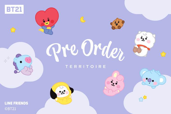 TERRITOIRE ≪追加生産決定!≫BT21タイアップ商品再予約スタート!