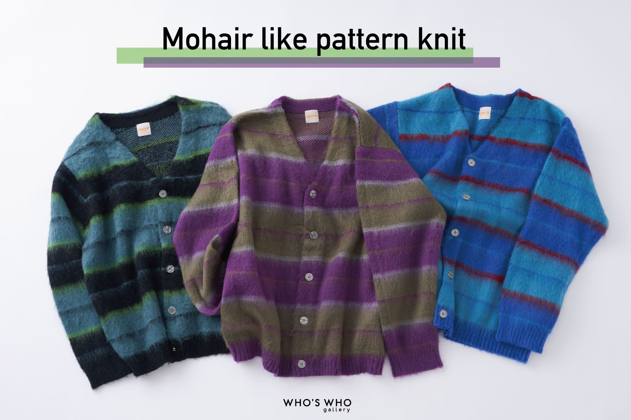 WHO'S WHO gallery NEW!【MOHAIR LIKE CARDIGAN】