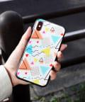 3COINS(スリーコインズ) 【ASOKO】三角総柄iPhoneX・XSケース