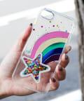 3COINS(スリーコインズ) 【ASOKO】スターレインボーiPhone7・8ケース