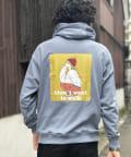 CPCM(シーピーシーエム) 【ユニセックス】ビッグシルエットクルーパーカー/イラスト/刺繍/バックプリント