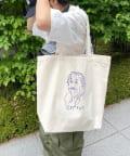 WHO'S WHO gallery(フーズフーギャラリー) 《WEB限定》手書きijinnキャンバストートバッグ
