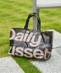 Daily russet(デイリー ラシット) PVC ロゴ横長トートバッグ