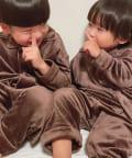 TERRITOIRE(テリトワール) 【KIDS 秋冬初登場!】しあわせベロアパジャマ 上下セット