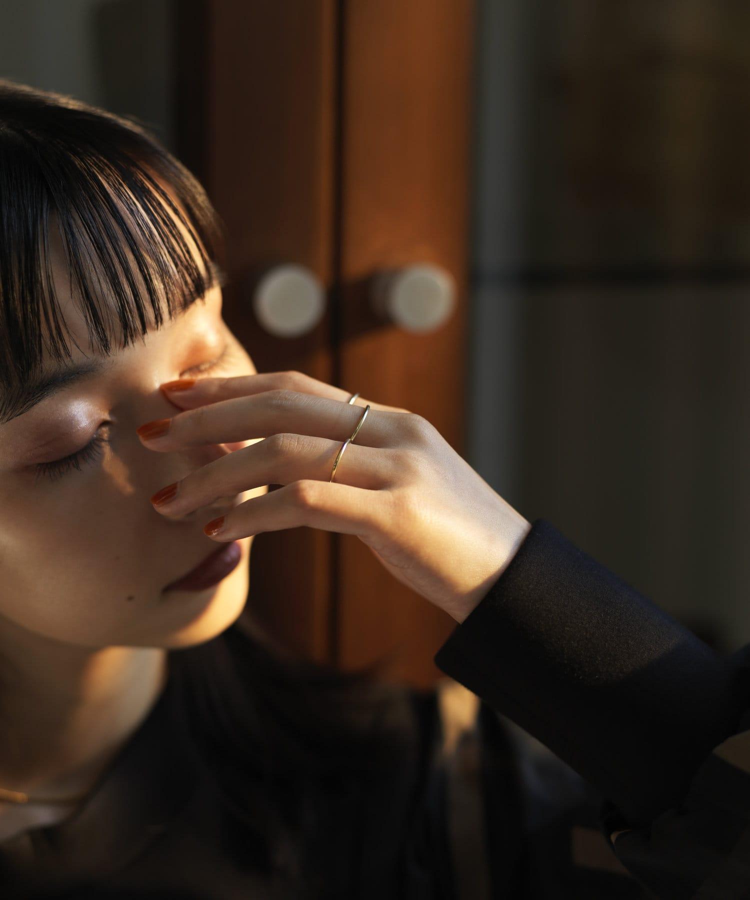 ear PAPILLONNER(イア パピヨネ) (WEB限定)スターリングシルバーシンプルリング