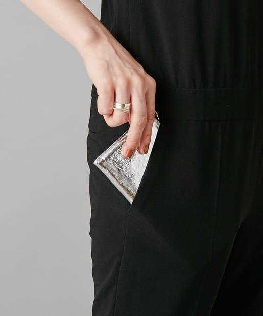 ear PAPILLONNER(イア パピヨネ) 【kawa-kawa(カワカワ)】silver1086 L字ファスナー財布