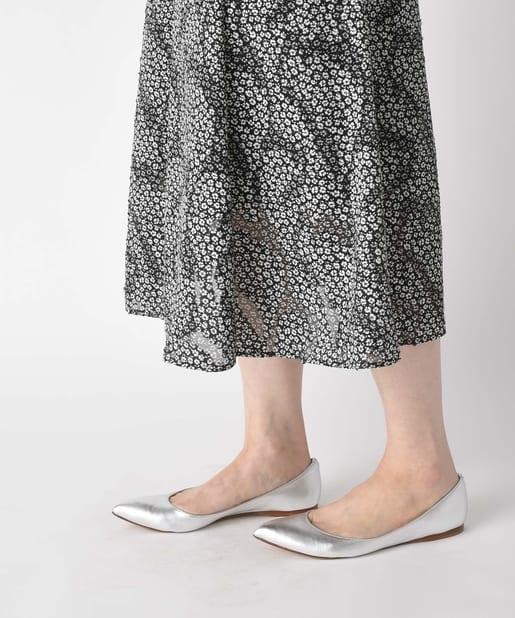La boutique BonBon(ラブティックボンボン) 【手洗い可】ジャガード小花プリントマーメイドスカート