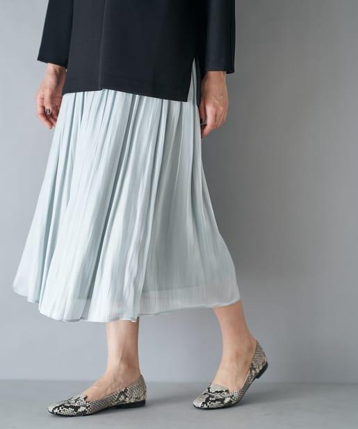 La boutique BonBon(ラブティックボンボン) 動画付き【手洗い可・人気アイテム】リキッドギャザースカート