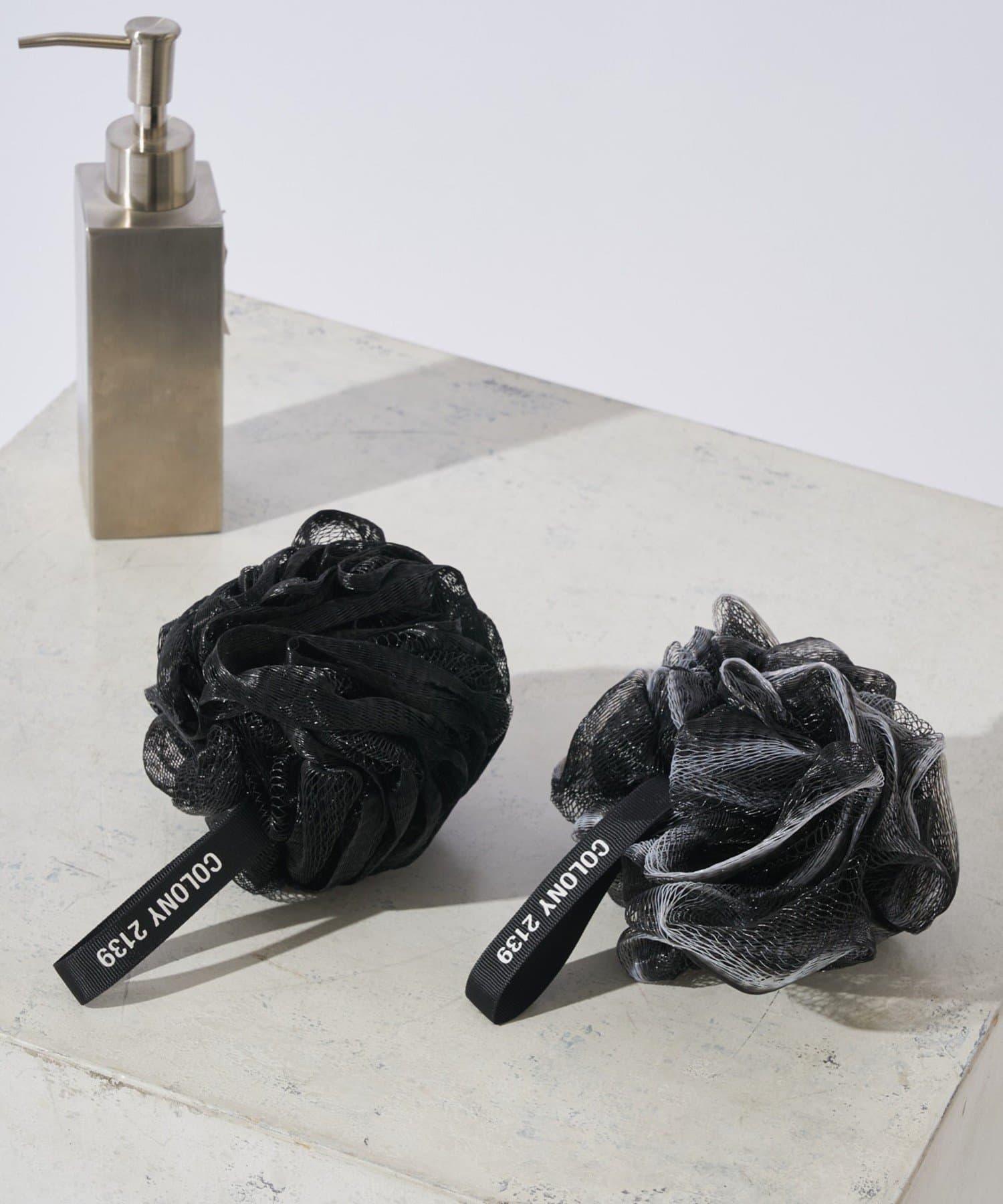 COLONY 2139(コロニー トゥーワンスリーナイン) ライフスタイル バスボールネット(2個セット)/泡立てネットボール ブラック