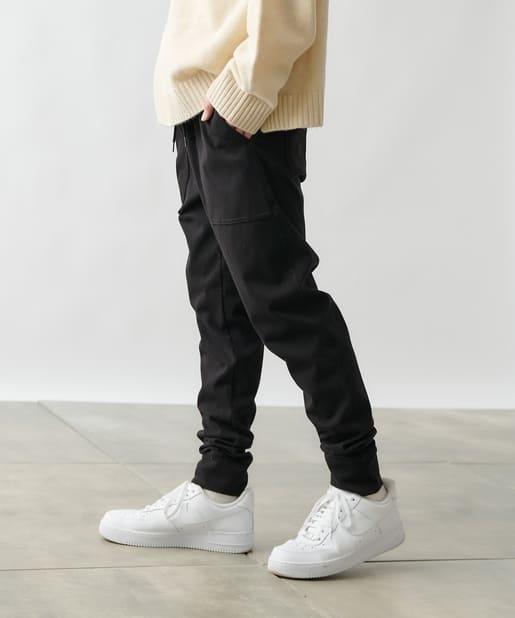 COLONY 2139(コロニー トゥーワンスリーナイン) メンズ 4WAYストレッチ裾ダブルパンツ ブラック