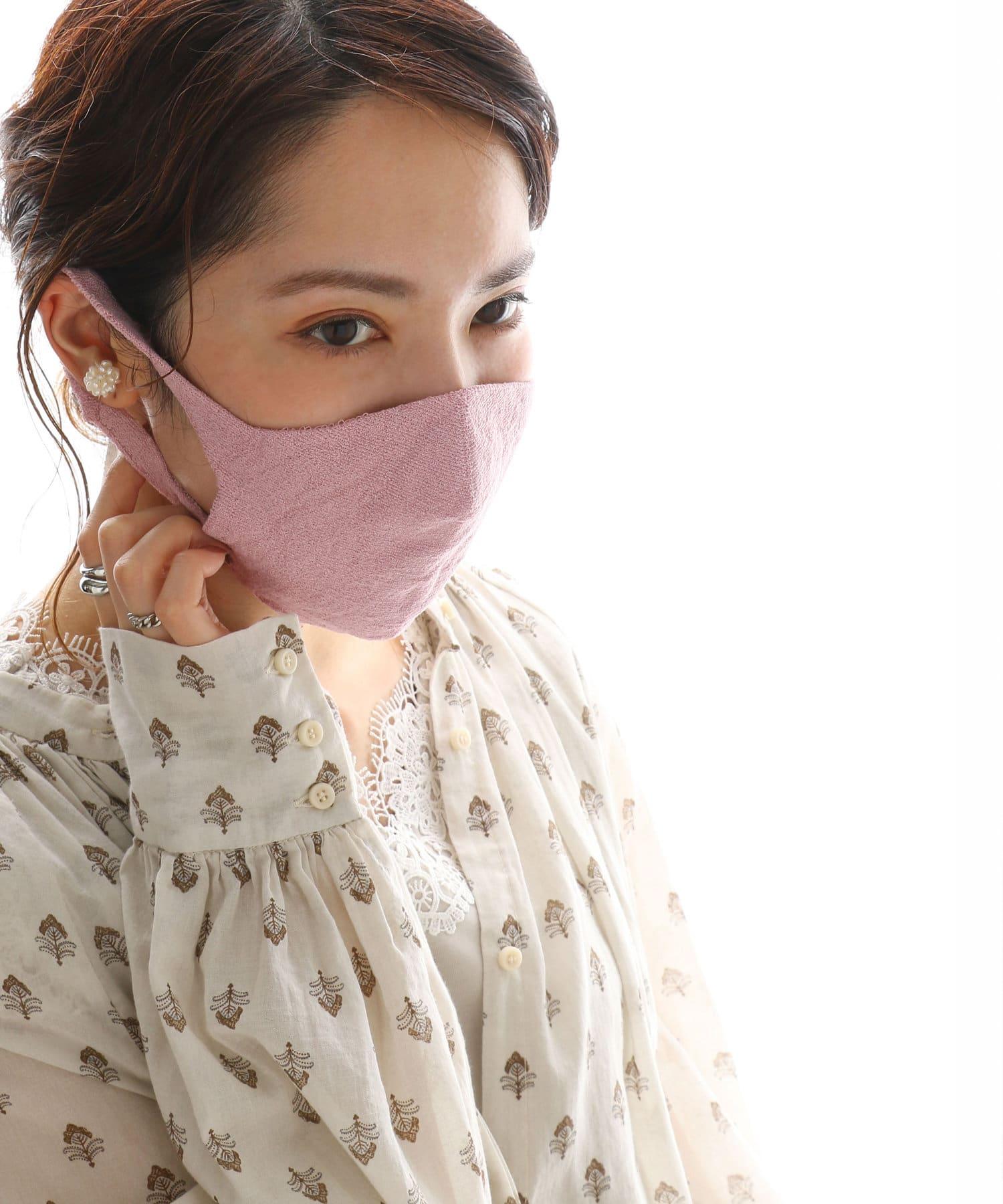pual ce cin(ピュアルセシン) レディース JAPAN MADE シームレス和紙マスク ピンク系その他