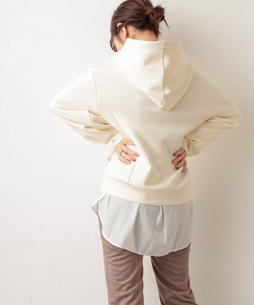 natural couture(ナチュラルクチュール) ふわもちラテパーカー
