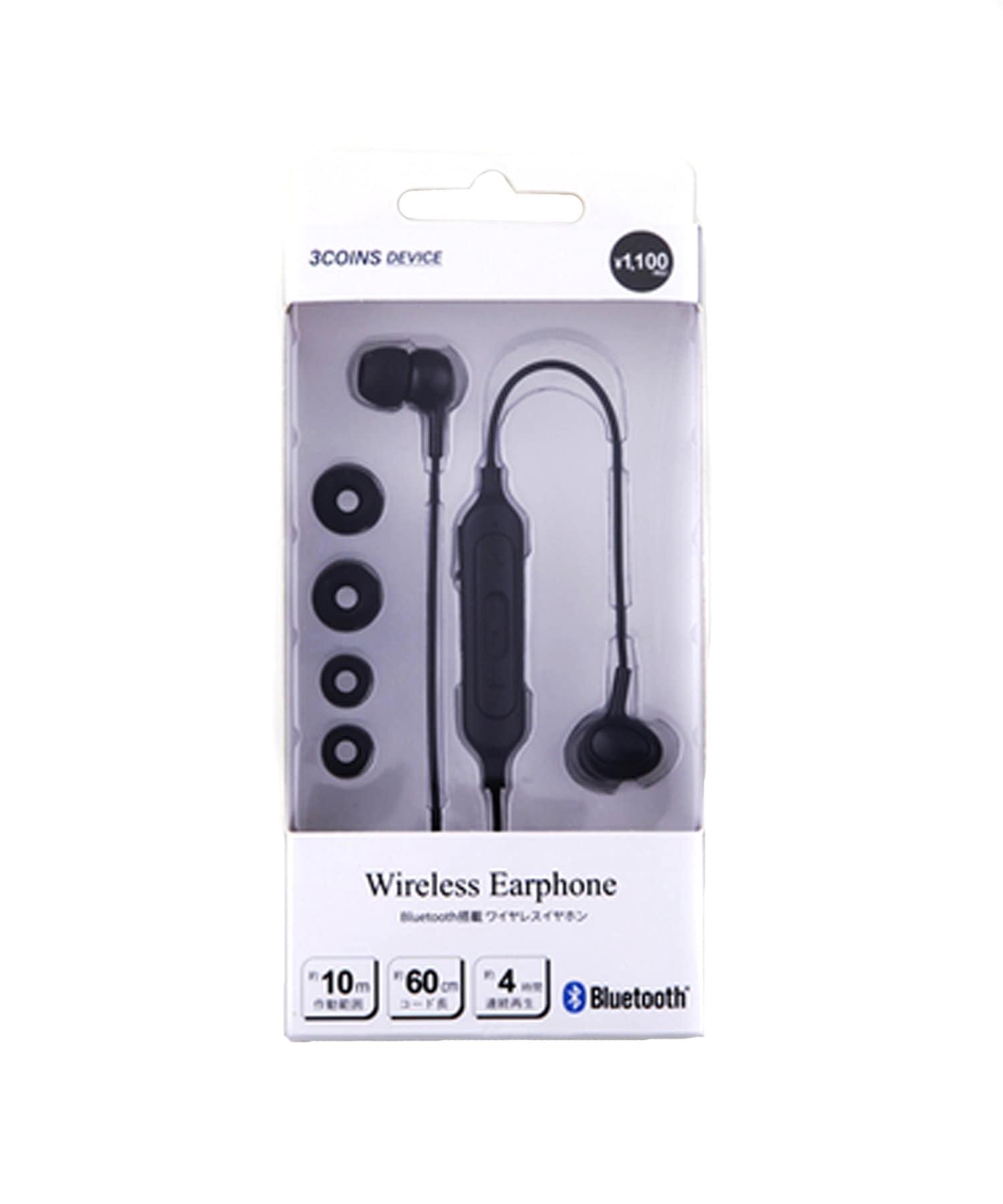 3COINS(スリーコインズ) ライフスタイル Bluetoothイヤホン ブラック