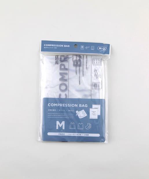 3COINS(スリーコインズ) ライフスタイル 衣類圧縮袋【Mサイズ】 その他
