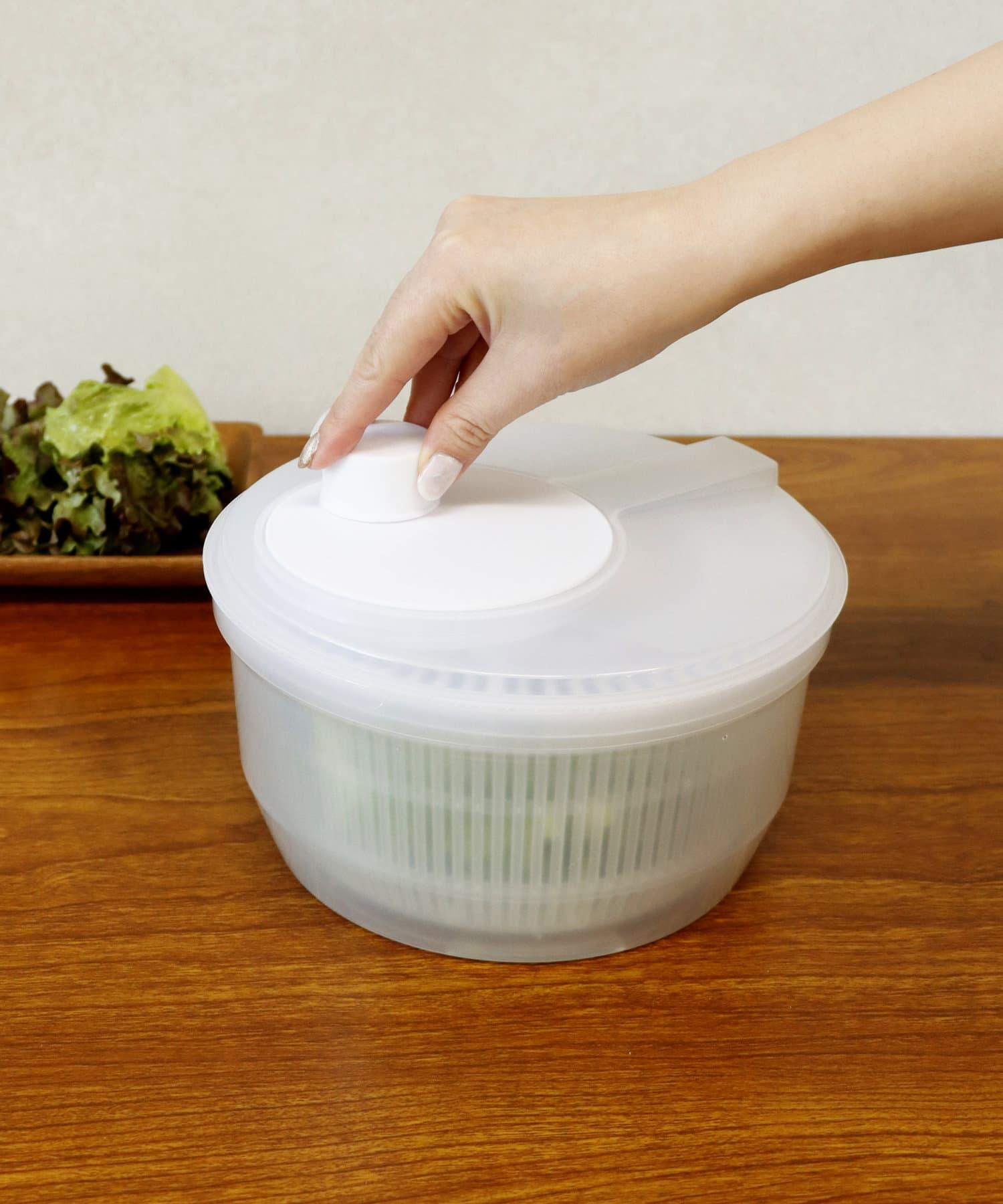 3COINS(スリーコインズ) ライフスタイル サラダスピナー ホワイト
