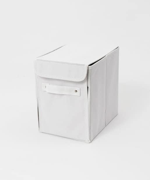 3COINS(スリーコインズ) ライフスタイル フタ付前開き収納ボックス ホワイト