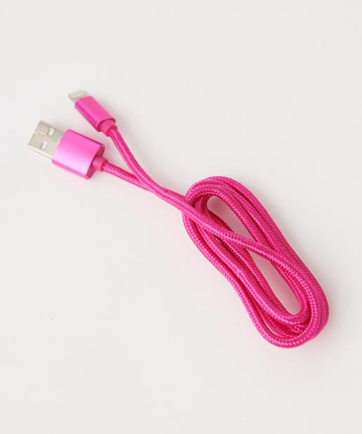 3COINS(スリーコインズ) ホーム ライトニングケーブル ピンク