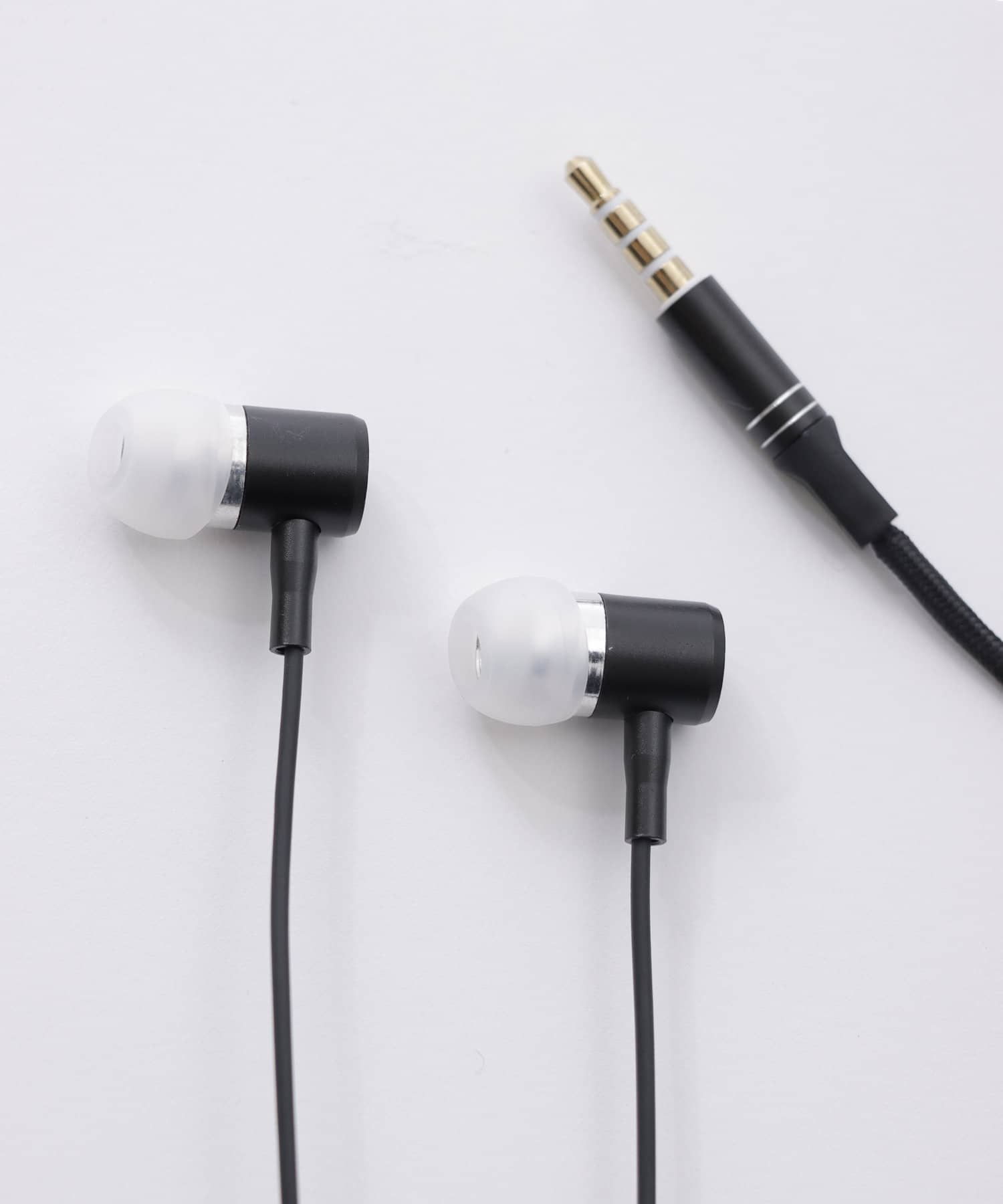 3COINS(スリーコインズ) ライフスタイル 高音質イヤホン ブラック