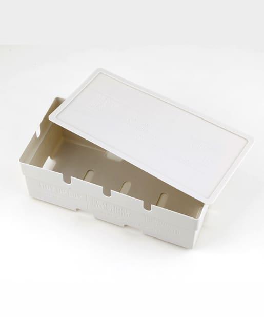 3COINS(スリーコインズ) ライフスタイル ケーブルBOX アイボリー