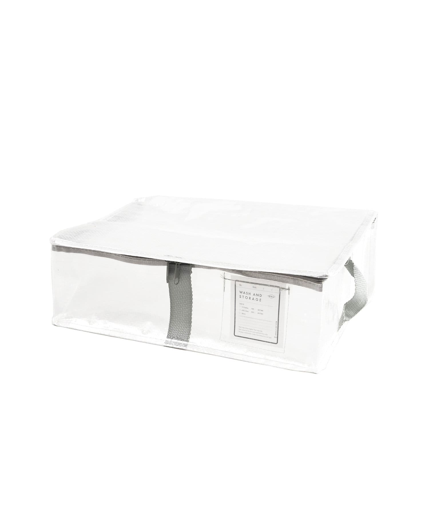 3COINS(スリーコインズ) 【衣替えやお部屋の整理に】フタ付きクリアフラットボックス