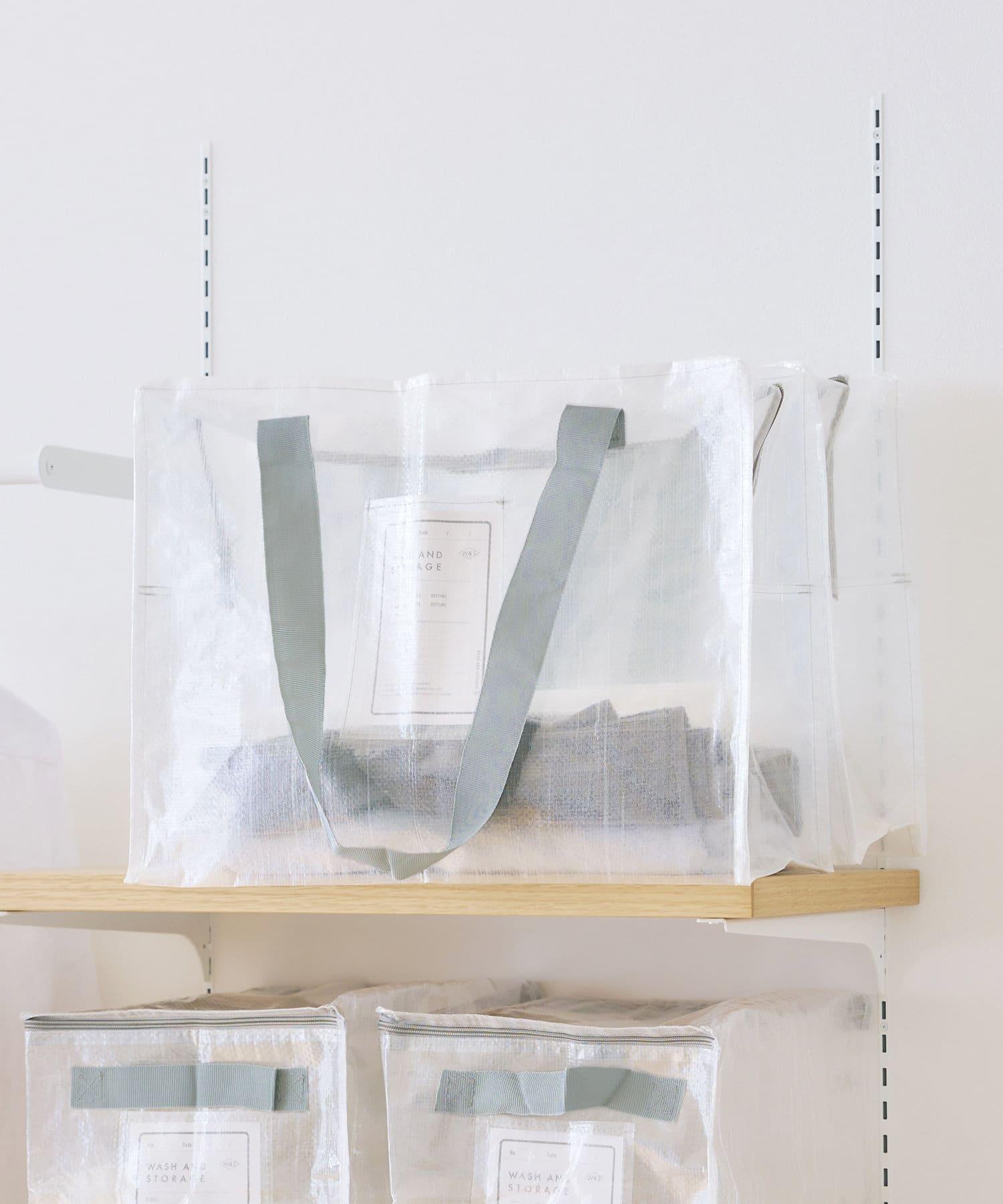3COINS(スリーコインズ) クリアボックスバッグ【Lサイズ】
