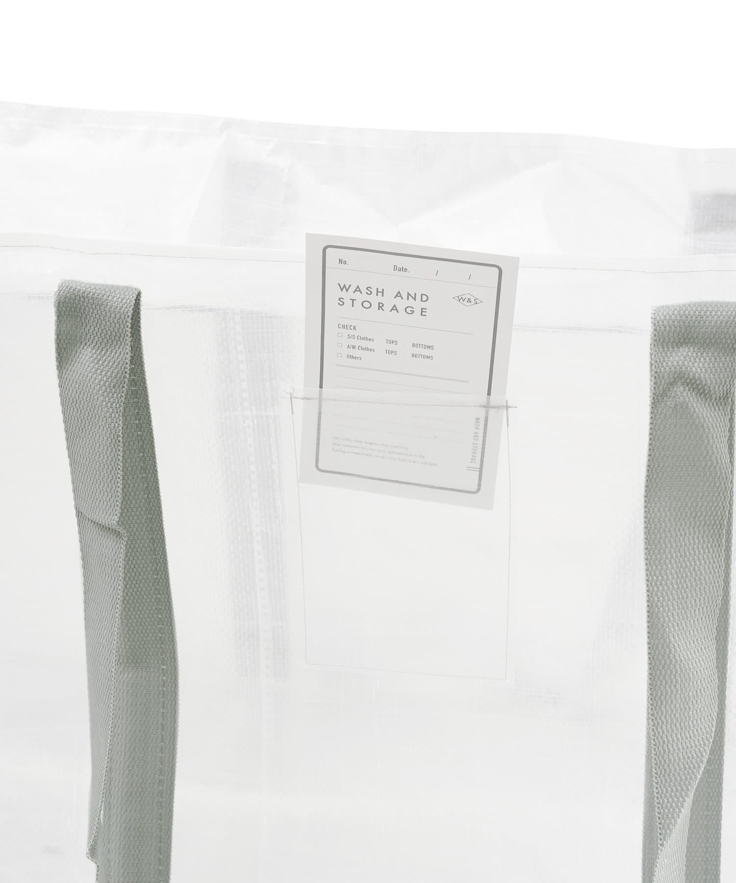 3COINS(スリーコインズ) 【衣替えや小物整理におすすめ】クリアボックスバッグ【LLサイズ】